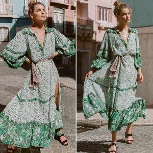 Dresses & Skirts - 🎉Host Pick!🎉Boho Maxi DRESS Winona Ivy Green NEW
